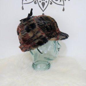 Vintage Unisex Plaid Faux Fur Hunting Hat